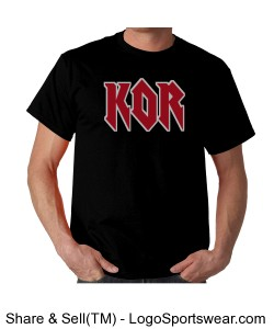 Rock and roll KOR t-shirt Design Zoom