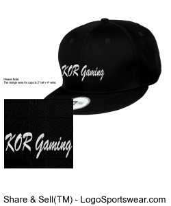 KOR gaming snapback Design Zoom