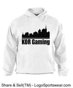 WHite hoodie KOR city Design Zoom