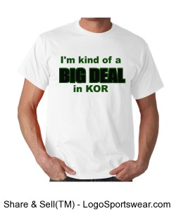 White big deal KOR t shirt Design Zoom
