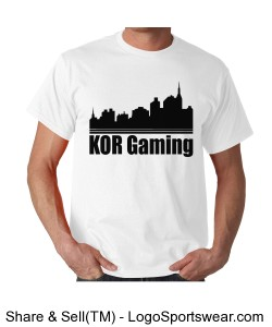 White KOR city T shirt Design Zoom