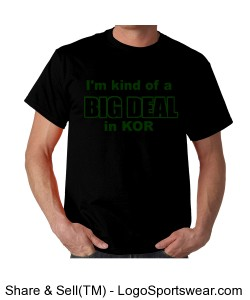 Black big deal KOR t shirt Design Zoom